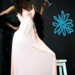 שמלת ערב אפרסק