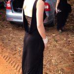 שמלת ערב תחרה בגב
